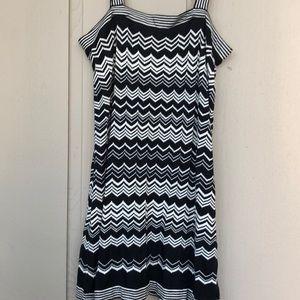 Missoni Black & White jumper pinafore sundress